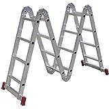 Escada Articulada 4x4 com 16 Degraus de Alumínio-BOTAFOGO-ESC0293