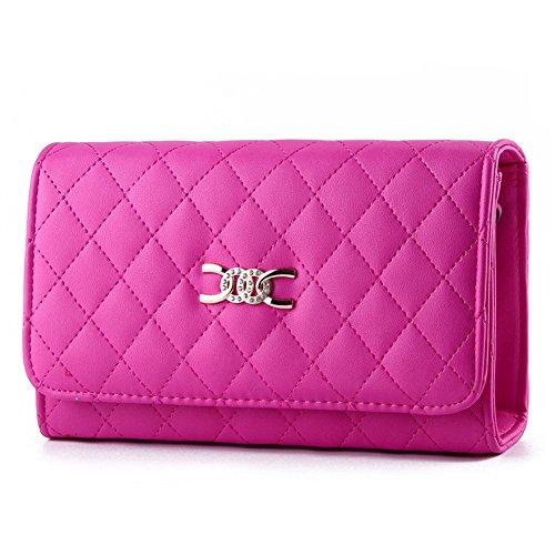 Qckj Fashion Crossbody Bag Da Donna A Forma Di Rombico Pacchetti Rosa Rosso