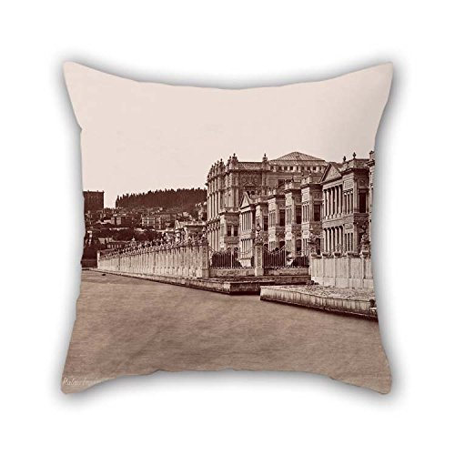 Pillow Covers 16 X 16 Inches / 40 By 40 Cm(two Sides) Nice Choice For Sofa Floor Saloon Monther Living Room Birthday Oil Painting Guillaume Berggren - Dolmabah?e Palace And (Guillaume Leather)