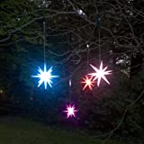 Single 8 inches Frosted Starburst Lighted Outdoor Ornament - Color Changing LED with Timer