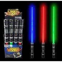 [VALUE BUNDLE] 12 Pack LED Laser Swords Expandable Light Up Sabers with FX Sound Effects (Bulk)