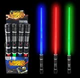 Liberty Imports Value Bundle - 12 Pack LED Laser Swords Expandable LED Light Up Sabers with FX Sound Effects (Bulk)