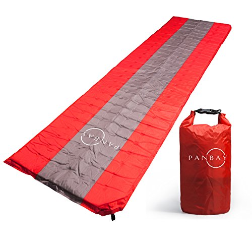 Panbay Camping Sleeping Pad for Lightweight Hiking Backpacking Self Inflating Air Comfortable Thick Foam Ultralight Compact Durable Mattress for Outdoor Traveling Sleep Rest (Spring Air Natures Rest)