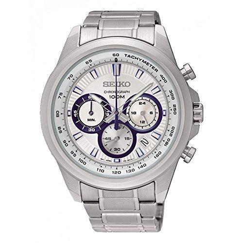- Seiko Neo Sports Chronograph White Dial Mens Watch SSB239