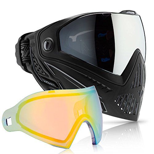 Dye i5 Paintball Goggle (Onyx with Northern Lights Thermal Lens Combo) by Dye