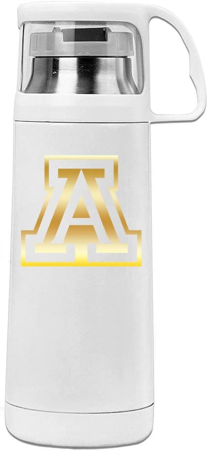 MeiXue RightHog Arkansas Razorbacks Gold Style Vacuum Cup Water Bottle White