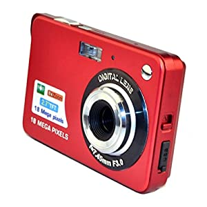 PeGear 18MP 2.7inch Mini Digital Camera with 8x Digital Zoom-Red