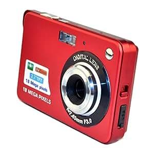 PeGear 18MP 2.7inch Mini Digital Camera with 8x Digital Zoom-Red