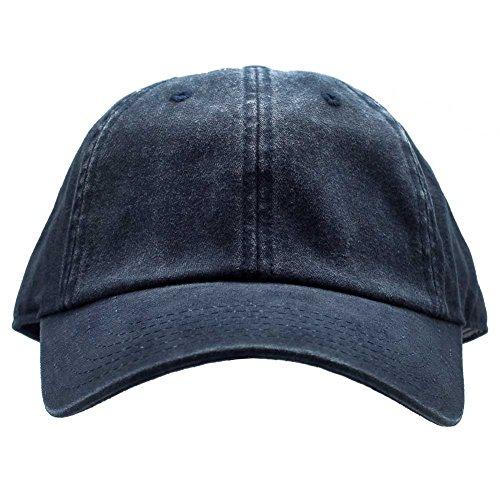 American Needle Baseball Cap - American Needle Blank Ragaln Washed Hat in Navy