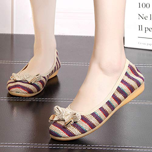 shallow flat slip B maternity linen FLYRCX soft foldable comfortable breathable shoes Spring shoes non summer mouth shoes ballet and and single shoes xw1awq8