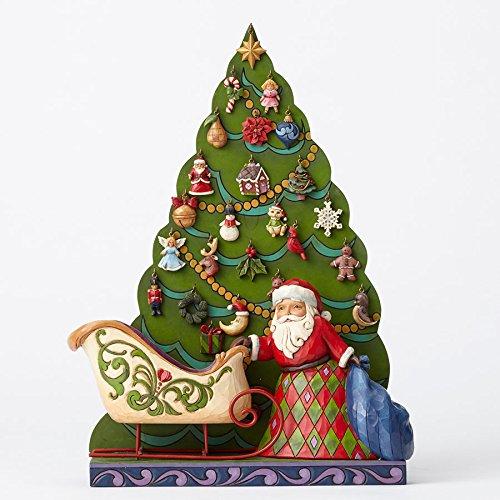 Jim Shore Santa/Tree Advent Calendar, - Sleigh Calendar Santas Advent