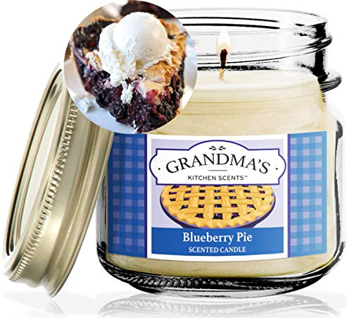 Blueberry Pie Scented Candles for Home | Non Toxic Long Lasting Soy Candles | Delicious Scent | 8 oz Mason Jar | Hand Made in The USA