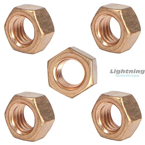 (Silicon Bronze Grade 651 Full Finished Hex nut 1/4-20 Qty 100)