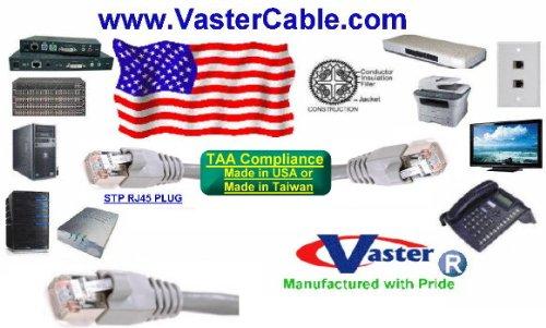 10 Pcs//Pack 25 Ft STP CAT6 550Mhz Shielded Patch Cable VasterCable
