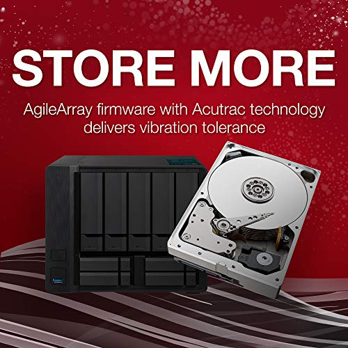 Seagate IronWolf 10TB NAS Internal Hard Drive HDD – 3.5 Inch SATA 6Gb/s 7200 RPM 256MB Cache RAID Network Attached Storage Home Servers – Frustration Free Packaging (ST10000VN0004) by Seagate (Image #2)