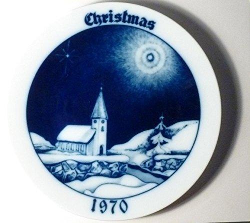 Vintage Tirschenreuth Christmas Plate Church 1970 Bavaria - Limited Edition