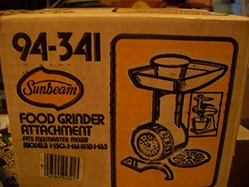 - Sunbeam Mixmaster Mixer Food Grinder Attachment #94-341