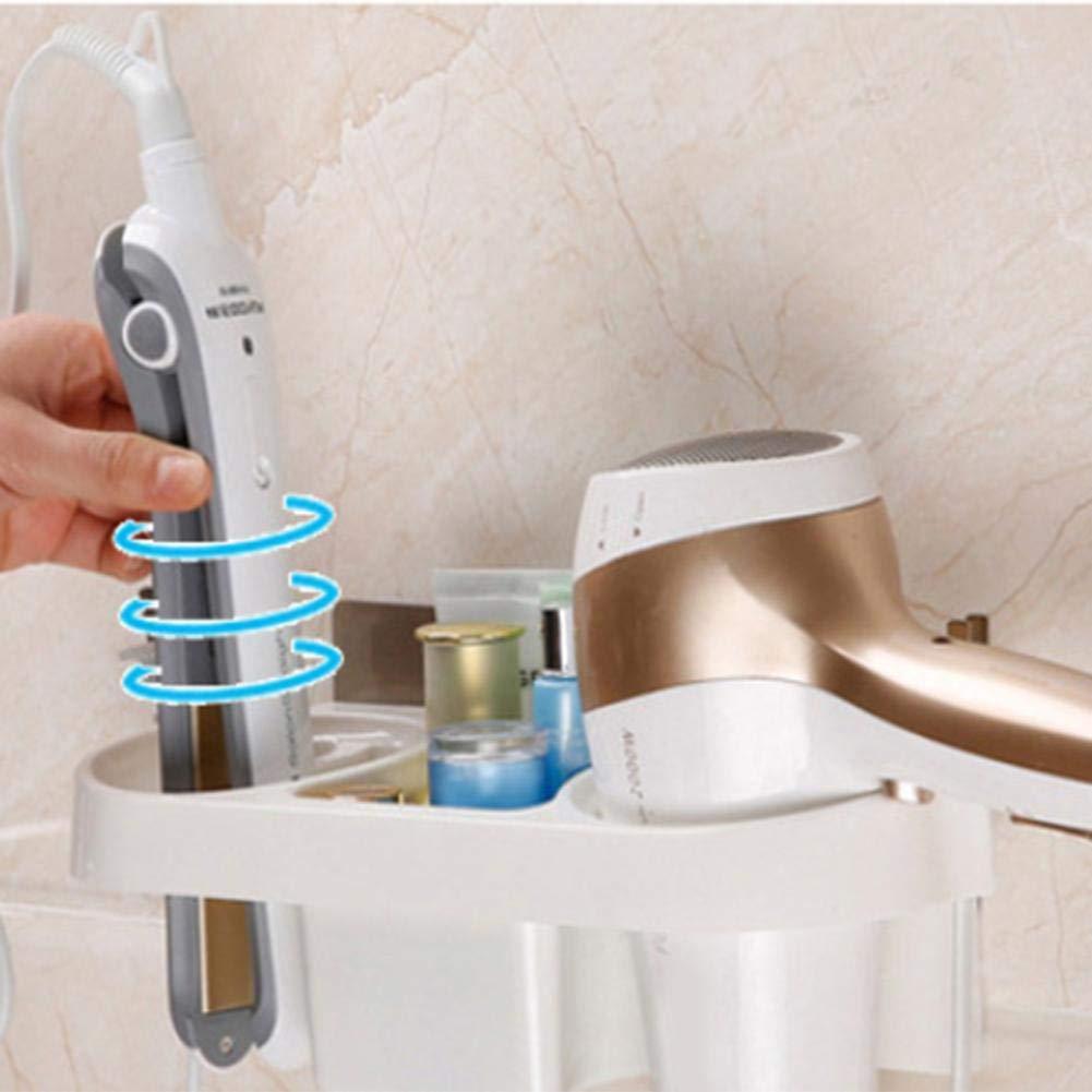 Hair Dryer Holder Adhesive Wandhalterung Gebl/äse Haartrockner Hanging Rack Organizer f/ür Badezimmer