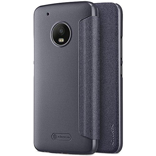 MOTO G5 Plus Case,Mangix Sparkle Luxury Shiny Bling Flip Folio Pu Leather Cover Hard Plastic Case Shell for Motorola G5 Plus/G plus 5th Generation (Black)