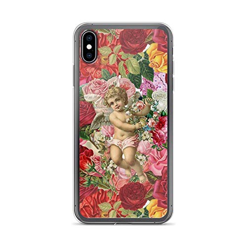 - iPhone Xs Max Pure Clear Case Cases Cover Victorian Cherub and Roses Chintzy Scrapbook Collage