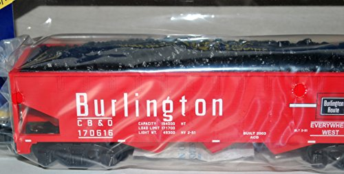 American Flyer 6-48622 Burlington red Three Bay Hopper w/ Coal Load CB&Q 170616