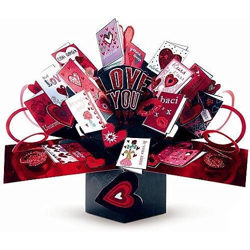 SECOND NATURE POP UPS - V-014 - LOVE MINI CARDS - Valentine's Day Card Sales