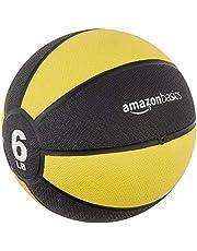 AmazonBasics Medicine Ball - 6 Pounds, Yellow and Black