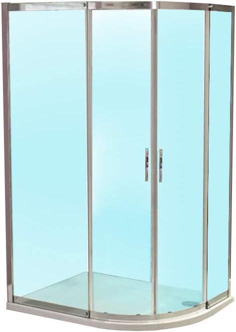 Mampara de ducha cabina de juego de fisureros para escalada Walk In para puerta corredera 8 mm esquinera con 900 x 760 (reversible* Tamaño ajustable *) limpiar o cama de matrimonio entrada