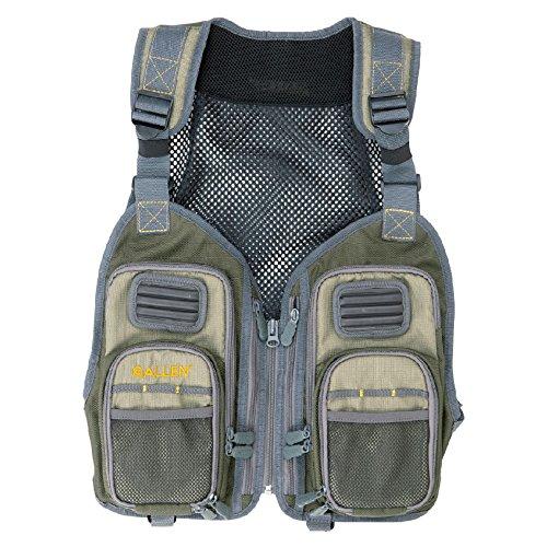 Allen Allen Vest - Allen Kootenai Fishing Vest Pack, Olive/Gray