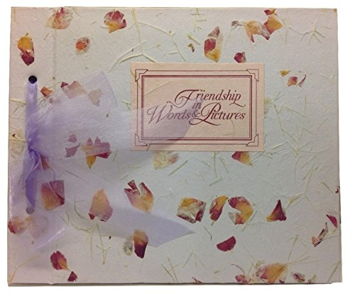 Handmade Lavender Pressed Flowers Friendship in Words and Pictures Photo Journal Album (Friendship Album)