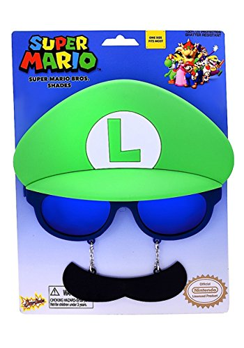 [Sunstaches Officially Licensed Nintendo Luigi Mustache] (Nintendo Costumes For Adults)