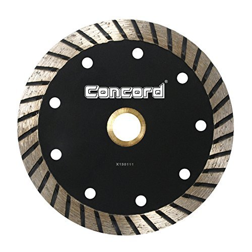 Concord Blades CTW060A10CP 6 Inch Continuous Wide Turbo Teeth Diamond Blade with Cooling Holes - Granite Diamond Blade