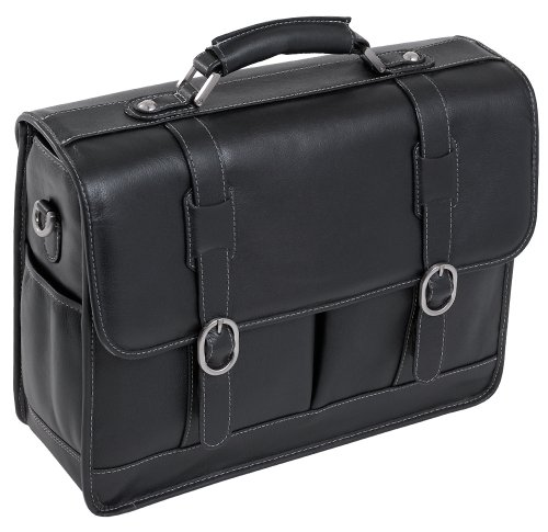 McKleinUSA BEVERLY 15445 Black Leather Laptop Case (Beverly Notebook Case Leather)