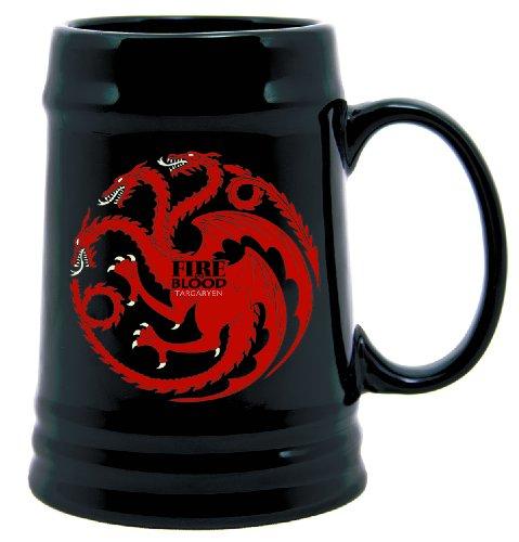 Dark Horse Deluxe Game of Thrones Ceramic Stein: Targaryen (Licensed Black Steins)
