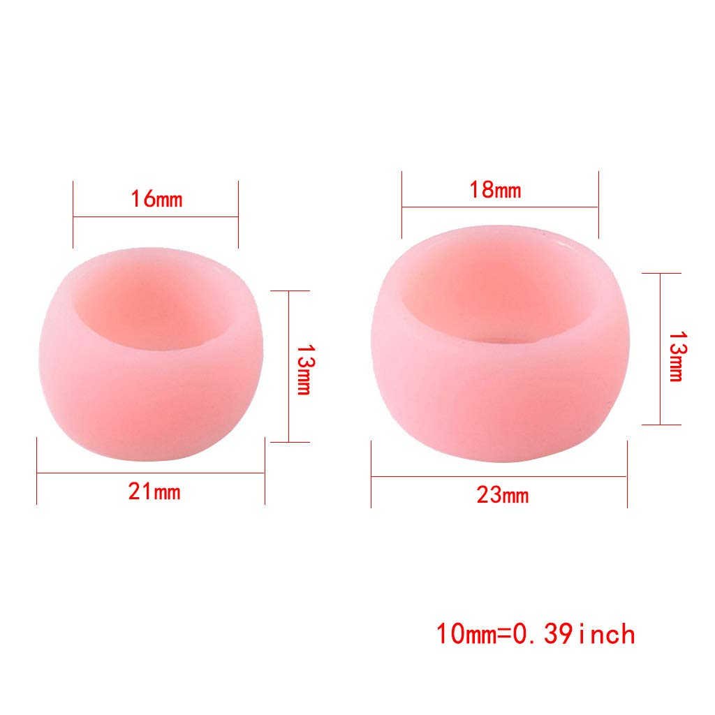 Shyln 2 Pcs Soft Silicone Ring For Men