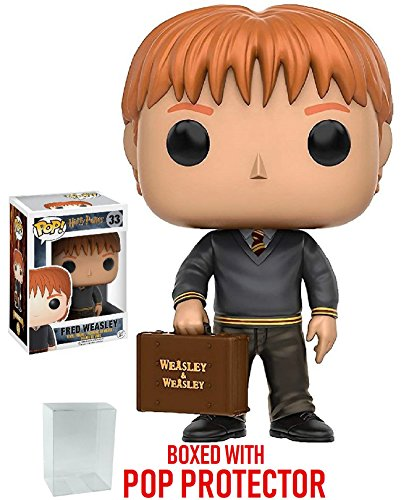 (Funko Pop! Movies: Harry Potter - Fred Weasley Vinyl Figure (Bundled with Pop Box Protector Case))