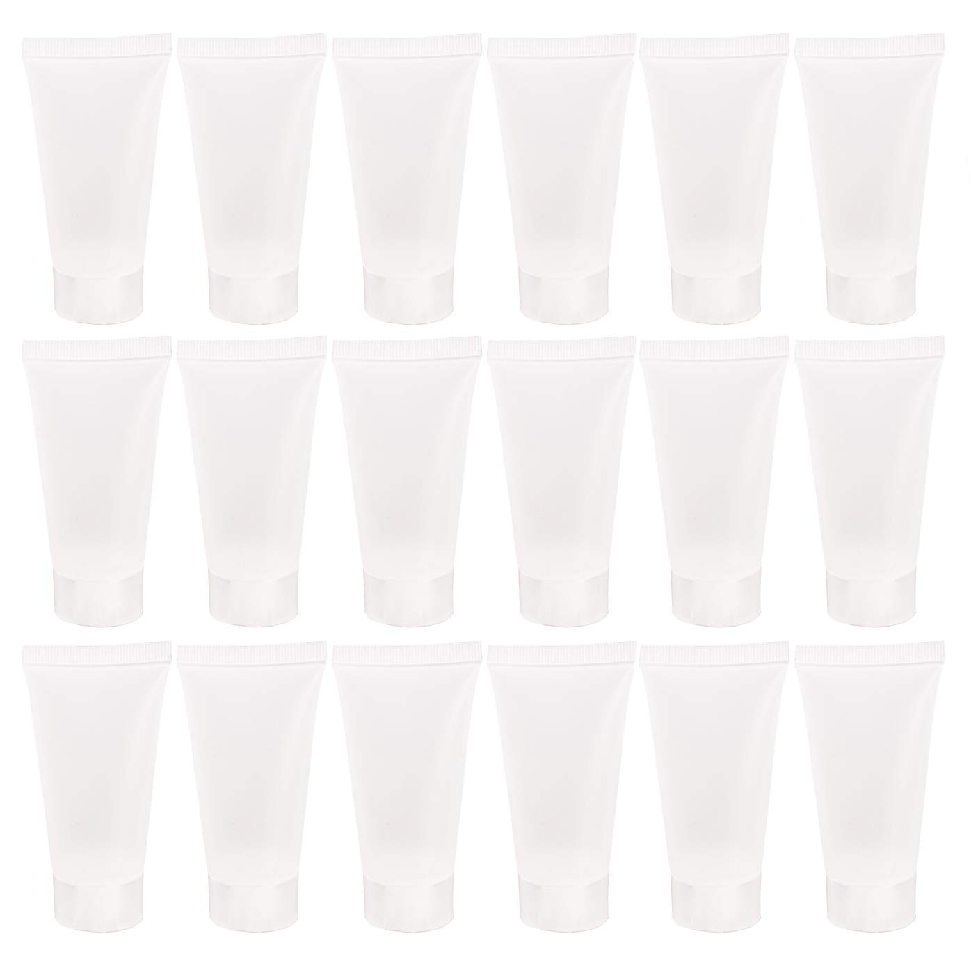 20PCS Emply Refillable Plastic Cosmetic Sott Tube Vial Bottles with Screw Cover Makeup Travel Sample Packing Storage Holder Container for Toothpaste Shampoo Facial Cleanser Body Lotion (5ml/0.17oz)