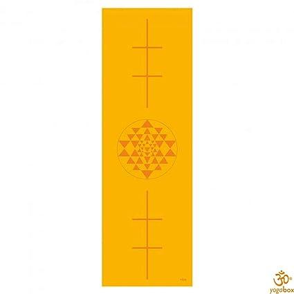 Estera de Yoga Leela Colección, azafrán Yantra/Alineación ...