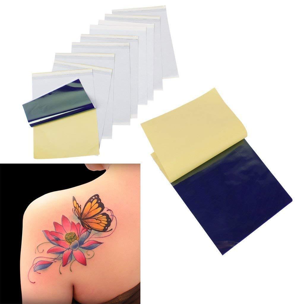 Beito 100 Tattoo Transfert Stencil Thermique Papier kit de Papier calque Carbone