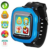 Kids Smartwatches with Games for Boys Girls - Smart Watches with Digital Camera Alarm Clock Children's Smart Wrist Sports Pedometer Kids Gifts Learning Toys (Black)