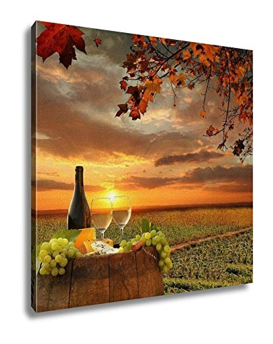 Ashley Canvas White Wine Barrel Vineyard Chianti Tuscany Italy, 16x16, AG5404876
