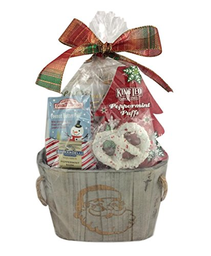 Holiday Christmas Gift Basket Premium Assorted Snacks Chocolate Cookies Pretzels