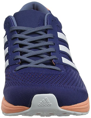 footwear Adidas 6 Running Indigo De Adizero White noble Chaussures Boston Bleu Steel 0 Femme raw grwqvEgU