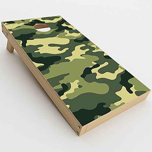 Skin Decal Vinyl Wrap for Cornhole Game Board Bag Toss (2xpcs.) Skins Stickers Cover / Green Camo original Camouflage