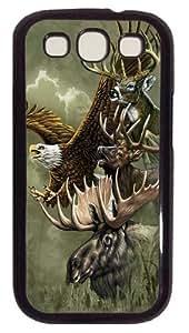 North American Totem Custom Samsung Galaxy I9300/Samsung Galaxy S3 Case Cover Polycarbonate Black
