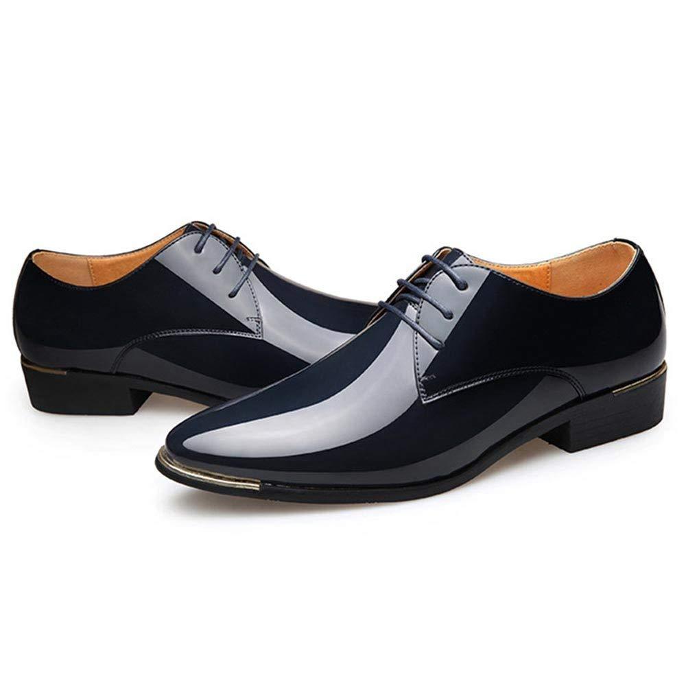 Plus Grosse Herren Leder Derby Schuhe Spitzschuh Business Formal