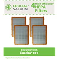 4 Replacements for Eureka HF-2 HEPA Style Filter Fits Ultra SmartVac 4800 Series, Compatible With Part # 61111, 61111A & 61111B, by Think Crucial