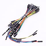 U-Sky 75pcs Various Length Solderless Flexible Breadboard Jumper Wires Dupont Plastic Endpiece Male to Male Electronics Test Leads Cable Connectors Perfect for Arduino and Robotics and Raspberry