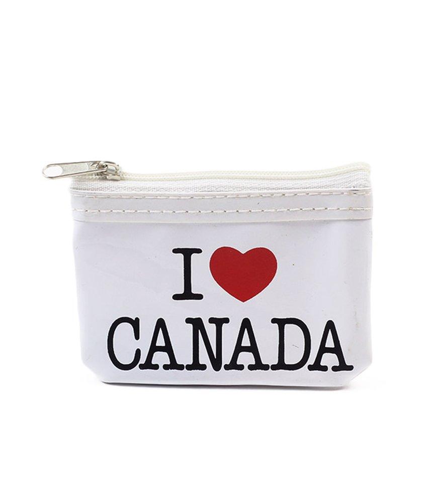 WhiteI Love Canada Round Coin Purse Babazoo Republic