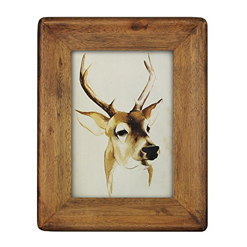 - icheesday Picture Frame 5x7,Rustic Solid Wood Handmade Picture Frames 5x7 Inch with High Definition Glass - Wall Hanging or Tabletop Standing - Vertical or Horizontal Display